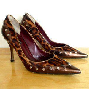 Dolce & Gabbana Leopard Print Stiletto Heels 8.5